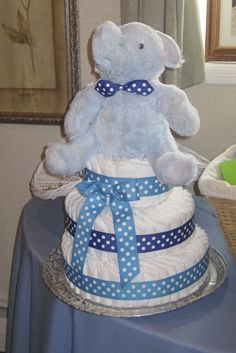 Diaper cake for my sister's baby shower!