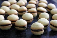 Biscoito de Manteiga Salgada e Ganache de Chocolate