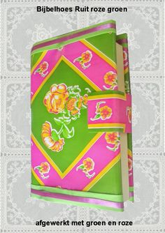 Bijbelhoezen : Bijbelhoes Ruit roze groen vanaf € 4,-