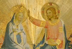 Angelico, Fra (1387-1455): Coronation of the Virgin. Florence, Galleria degli Uffizi*** Permission for usage must be provided in writing from Scala. ***