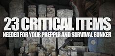 "Good list of food items for creating a long-term food supply for emergency situations, which anyone should have anyway not just preppers. ~ ""Critical Items for Survival Shelters"""