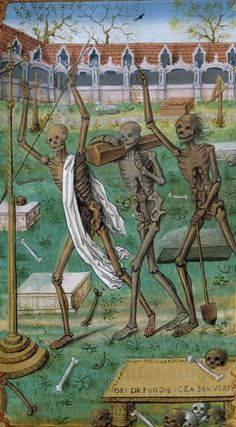 The Three Dead. Horae [Galiot de Genouillac], c. 16th century [early], Latin MS 38, f.95r, The University of Manchester Library.
