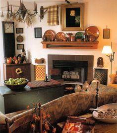 129 best Primitive living rooms images on Pinterest   Prim decor ...