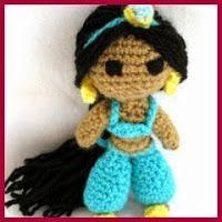 Ravelry: Princess Jasmine Amigurumi pattern by Vivianne Russo - Philae Cute Crochet, Crochet For Kids, Crochet Crafts, Crochet Projects, Crochet Patterns Amigurumi, Amigurumi Doll, Crochet Dolls, Disney Crochet Patterns, Crochet Mignon