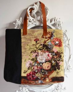 French needlepoint  floral tapestry shopping by FrenchDecoChic, €46.00