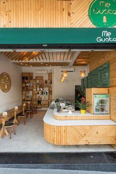 35 Ideas For Exterior Design Shop Decor Small Restaurant Design, Decoration Restaurant, Restaurant Interior Design, Coffee Bar Design, Coffee Shop Interior Design, Deco Cafe, Cafe Shop Design, Mini Cafe, Small Coffee Shop