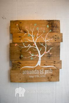 Pallet Art  Wall Hanging Rustic Shabby por TealElephantBoutique