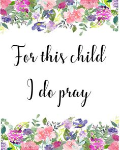 For this child I do pray pray for child printable art | Etsy