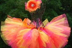 Adorable fall tutu!! pink, yellow, red, orange tutu, birthday tutu, photo prop newborn, baby, toddler, children tutus