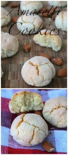 Cookies Italian Amaretti Cookies - Crisp on the outside, soft and chewy on the inside with a beautiful almond flavour No Bake Cookies, Yummy Cookies, Cookies Et Biscuits, Italian Pastries, Italian Desserts, Italian Foods, Cookie Desserts, Cookie Recipes, Dessert Recipes
