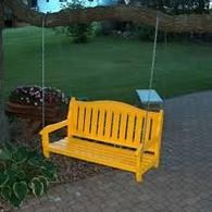 Garden Bench, Swing - Available in many colors, see them all at IntraNationalMall.com