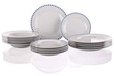 BANQUET CUBITO BLUE A02579 - Szett Banquet, Plates, Tableware, Kitchen, Blue, Licence Plates, Cuisine, Dishes, Dinnerware