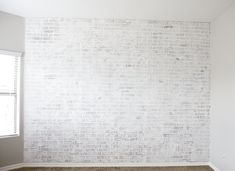 DIY Faux Brick Wall- create a beautiful white brick statement wall with faux brick panels Faux Brick Wall Panels, Brick Feature Wall, Brick Wall Paneling, Faux Walls, White Brick Walls, White Paneling, Feature Walls, Brick Wall Bedroom, Brick Interior