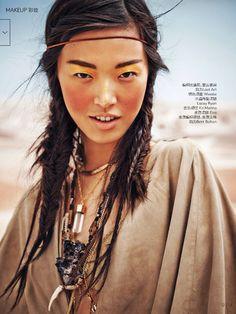 Vogue China March 2015 | Tian Yi by Jem Mitchell [Beauty]