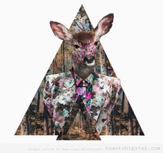 Art pop Hipster triangle