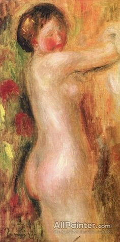 Pierre Auguste Renoir Nude With Raised Arms oil painting reproductions for sale