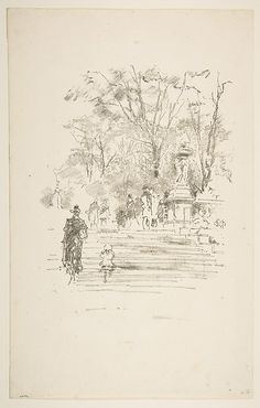 The Steps, Luxembourg Gardens James McNeill Whistler