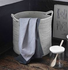 These White Cotton Woven Baskets have a lovely pale grey stitching which creates a stylish and practical storage solution perfect for every room. Living Room Toy Storage, Diy Storage Bench, Cheap Storage, Fabric Storage, Small Storage, Storage Baskets, Kitchen Storage, Basket Weaving, Woven Baskets