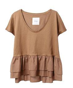 The Virgnia(ザ ヴァージニア)の「シルケット天竺フレア切り替えカットソー(Tシャツ・カットソー)」です。このアイテム着用のコーディネートをチェックすることもできます。