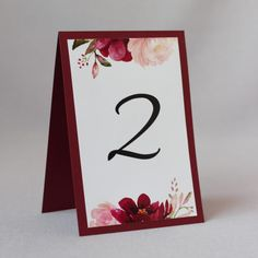 22 Red Wedding Invitations, Wedding Invitation Templates, Dream Wedding, Wedding Dreams, Wedding Stuff, Number Labels, Wedding Table Numbers, Wedding Ceremony, Floral Prints