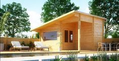 PRODUCT DESCRIPTION  Sequoia 12ft. x 16ft. guest cabin/office House  Extend your MODERN CABIN living into your outdoor living space with this spacious, natural wood gardening shed, pool shed or storage building. The Sequoia 12' x16' green shed ...