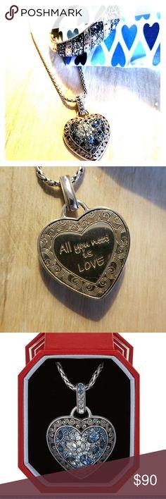 "Brighton ""Voyage Heart"" necklace & bracelet set Necklace worn twice; bracelet never worn. I love them, they just aren't my style. Brighton Jewelry Necklaces"