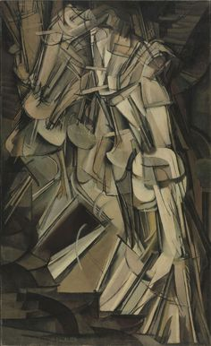 """""""Nude Descending a Staircase, No. By Marcel Duchamp is his very famous painting. Nude Descending a Staircase, No. 2 is a 1912 painting by Marcel Duchamp. The work is widely regarded as a Modernist classic and has become one of the most famous of its time. History Of Modern Art, Art History, History Books, Cubist Art, Art Ancien, Poster Art, Philadelphia Museum Of Art, Descendants, Oeuvre D'art"""