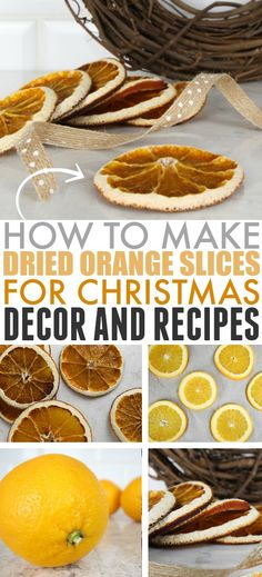 In this post learn how to dry orange slices to use in traditional Christmas decor as well as in holiday recipes. No fancy equipment required! Natural Christmas, Homemade Christmas, Christmas Baking, Christmas Crafts, Christmas Ideas, Christmas Kitchen, Christmas Tree, Dried Orange Slices, Dried Oranges