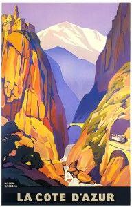 Affiche Cote d'Azur, Roger Broders, 1928