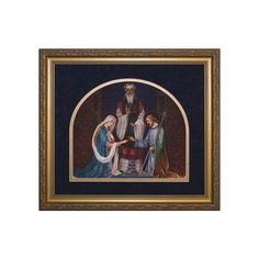 A beautiful depiction of the Jewish wedding of Mary and Joseph. This is an ideal gift to remind any newly married couple of the sacredness of their wedding vows.