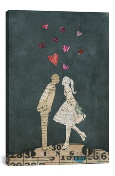 iCanvas 'Cute Couple I' Giclée Print Canvas Art available at #Nordstrom