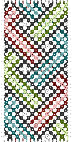 Normal Pattern added by dooood Diy Bracelets With String, String Bracelet Patterns, Thread Bracelets, Embroidery Bracelets, Braided Bracelets, Braided Scarf, Diy Friendship Bracelets Patterns, Bracelets With Meaning, Bracelet Crafts