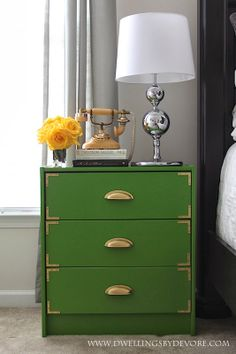 green campaign Dwellings By DeVore: Green Campaign Inspired IKEA Rast Hack Diy Furniture Projects, Ikea Furniture, Paint Furniture, Furniture Makeover, Ikea Makeover, Colorful Furniture, Baby Furniture, Bedroom Furniture, Furniture Design