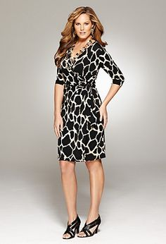 This dress looks amazing on- even better when paired with bright jewelry and a shoe with color