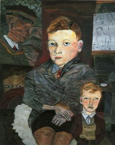 The Village Boys - Lucian Freud 1942 British 1922-2011