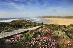 Playa de Bordeira, también llamada Carrapateira, en el Algarve portugués.