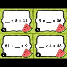Cartes à taches : Le terme manquant dans la multiplication et la division Multiplication, French Immersion, Elementary Schools, Division, Comics, Fun, Kids, School Ideas, Classroom Ideas
