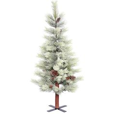 Vickerman E155845 Unlit Frosted Bellevue Alpine Artificial Christmas Tree 45 x 30 >>> You can find more details by visiting the image link.