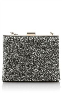 Buy Pewter Glitter Box Clutch from the Next UK online shop