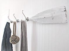 Flur Garderobe aus einem Paddel selber machen