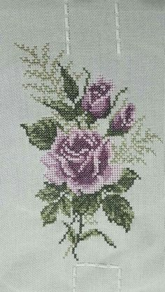 This Pin was discovered by Ilk Mini Cross Stitch, Cross Stitch Heart, Cross Stitch Flowers, Cross Stitch Kits, Beaded Embroidery, Cross Stitch Embroidery, Embroidery Patterns, Hand Embroidery, Funny Cross Stitch Patterns