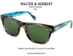 Walter and Herbert Turing Blue Sunglasses, Blue Grey, Wayfarer, England, Style, Fashion, Swag, Moda, Fashion Styles