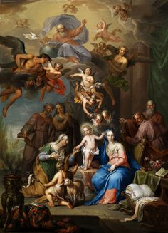 free-shipping-classical-religion-figures-infant-christ-angels-canvas-prints-oil-painting-on-canvas-wall-art.jpg (577×800)