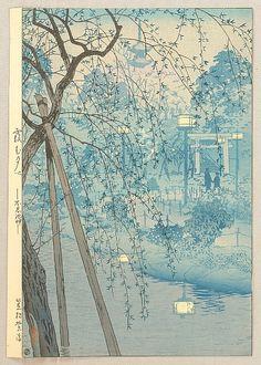 Shiro Kasamatsu 1898-1992 - Misty Evening at Shinobazu Pond