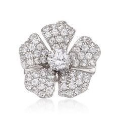 What woman doesn't love flowers! Combine flowers and jewelry and this Pave CZ Flower Ring is sure to be a hit. >>Click on the Flower Ring to see more styles at Ross-Simons.
