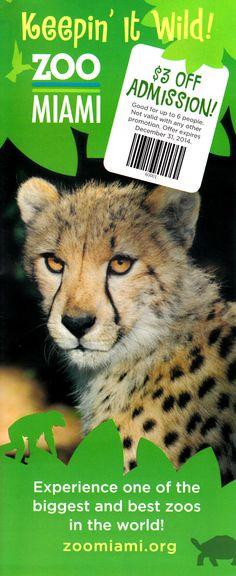 Zoo Miami Brochure #Miami #Florida #MiamiZoo #Brochure #Travel