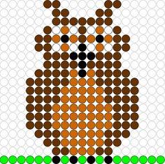 Kralenplank Uil