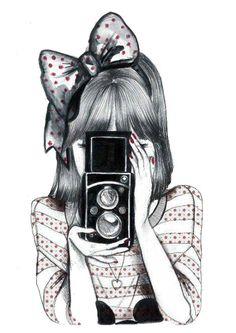 Drawing of a girl with a old camera soooo cute!!!!!!! http://digitalcamerasreviewonline.com
