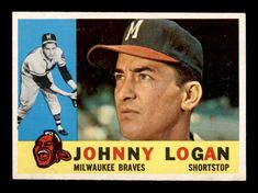 1960 Topps #205 Johnny Logan EXMT/EXMT+ X1252871 #MilwaukeeBraves