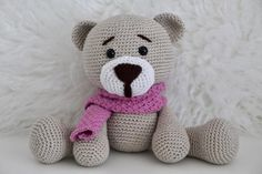 Amigurumi Spielzeug Teddy Mr. Fluff | Etsy Baby, Teddy Bear, Toys, Handmade, Animals, Amigurumi, Kids, Activity Toys, Hand Made